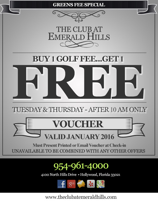 Buy one golf fee, get one FREE