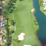 Aerial shot of 7th hole at The Club at Emerald Hills